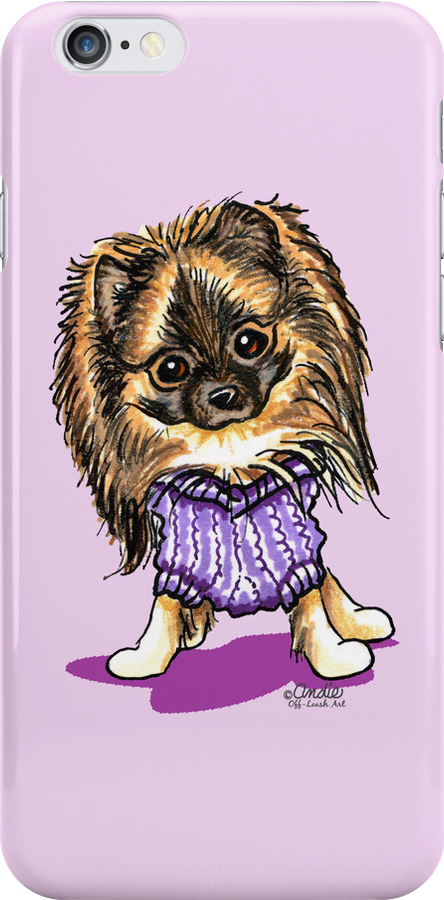 Plum Cute Pomeranian by offleashart