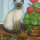 Samantha the Siamese Cat by Vivian Eagleson