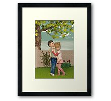 I Remember Our First Hug Framed Print