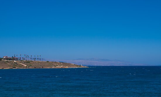 Beach with blue water near the old town, Turkey by Kirk D. Belmont Photography
