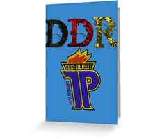 DDR - JP Emblem (black-red-gold) Greeting Card