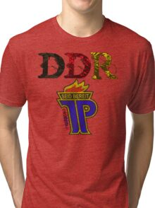 DDR - JP Emblem (black-red-gold) Tri-blend T-Shirt