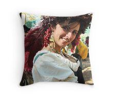 Renaissance Maiden Throw Pillow