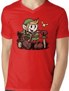 Vintage Link Mens V-Neck T-Shirt