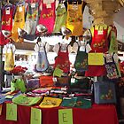 Colorful Aprons, Cloth Shopping Bags, Pike's Public Market by seeingred13