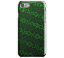 Buttons (Green) iPhone Case/Skin