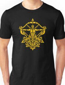 Zodiac Sign Sagitarius Gold Unisex T-Shirt