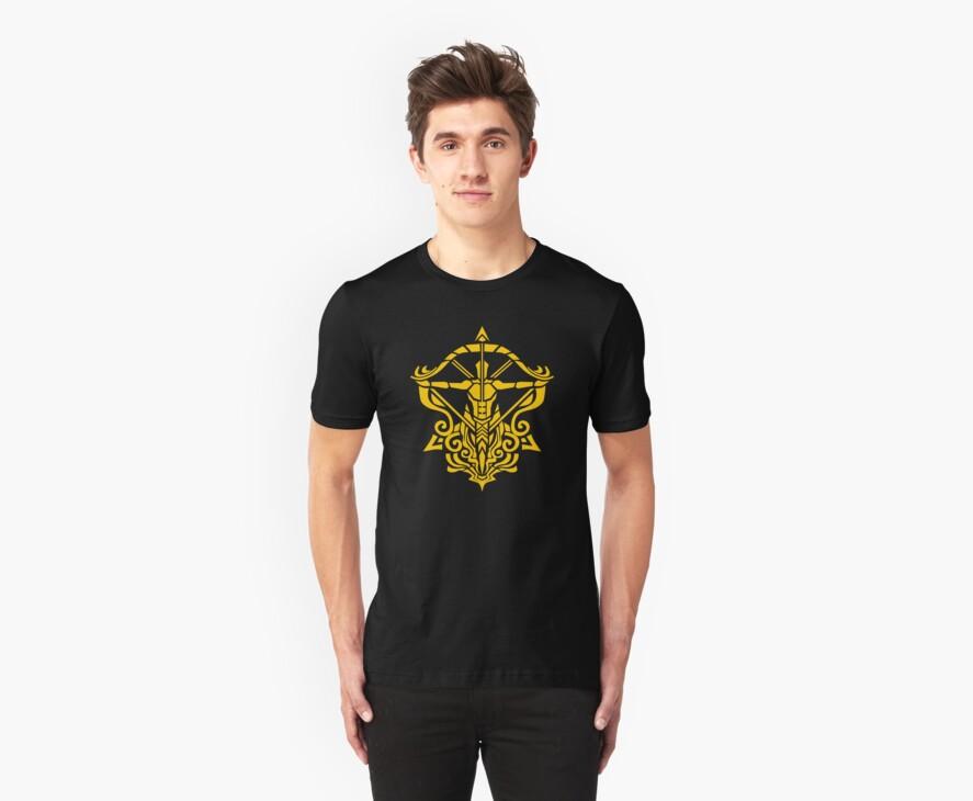 Zodiac Sign Sagitarius Gold by elangkarosingo