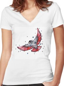 The Bird Women's Fitted V-Neck T-Shirt