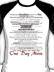 One Day More Typography T-Shirt