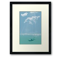 Dolphin in The Water Framed Print
