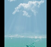 Dolphin in The Water by Liam Liberty