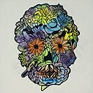 Flower Skull 1 by Gavin Dobbs