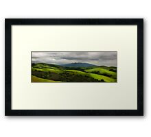 Dry Creek with Storm Approaching Framed Print