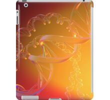 3D Human DNA Strand in Clear Plastic Material iPad Case/Skin