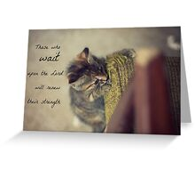 Those who Wait Upon the Lord Greeting Card