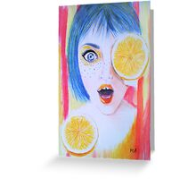 Juicy  Greeting Card