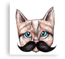 Moustache Cat Canvas Print
