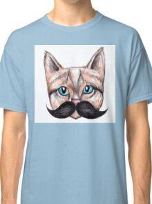 Moustache Cat Classic T-Shirt