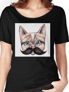 Moustache Cat Women's Relaxed Fit T-Shirt