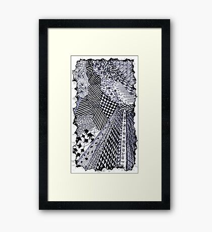 Zen-tangle #1 Framed Print
