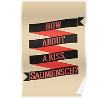 The Book Thief - How about a kiss, Saumensch? Poster