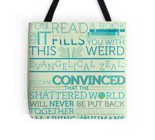 tfios - Sometimes you read a book... Tote Bag