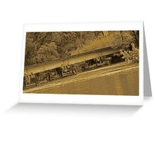Flooding under the rails Greeting Card