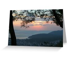 Winter Sunset Akyaka Greeting Card