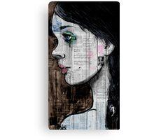 the black tear Canvas Print