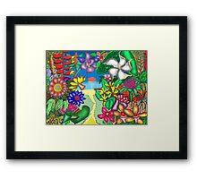 Floradise Framed Print