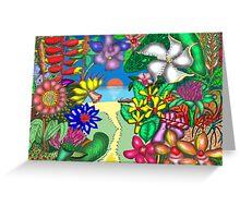 Floradise Greeting Card
