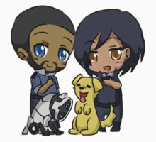 Mass Effect 3 Chibi Zodiac - Steve Cortez and Samantha Traynor by chocominto