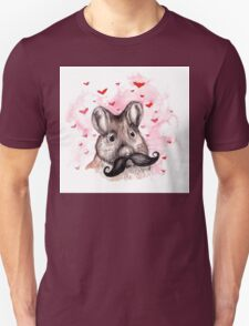 Mouse Moustache Unisex T-Shirt