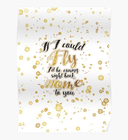 If I Could Fly - Gold Poster