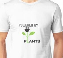 Powered By Plants Vegan Art Unisex T-Shirt