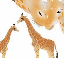 Four Giraffes by Amy Palmer