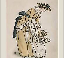 Greetings-Kate Greenaway-Mother with Toddler by Yesteryears