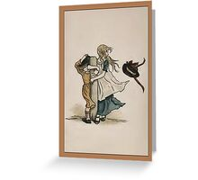 Greetings-Kate Greenaway-Girls on Windy Day Greeting Card