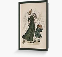 Greetings-Kate Greenaway-Mother and Children Greeting Card