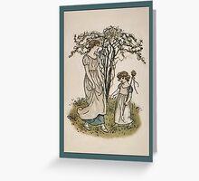 Greetings-Kate Greenaway-Mother/Daughter under Tree Greeting Card