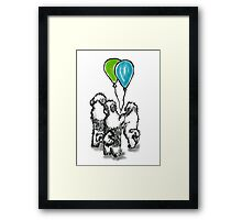 Balloon Puppies Framed Print