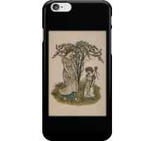 Kate Greenaway-Mother/Daughter under Tree iPhone Case iPhone Case/Skin
