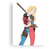 Harley Quinn Mash Up Metal Print