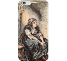 Vintage Girl by Fireplace iPhone Case iPhone Case/Skin