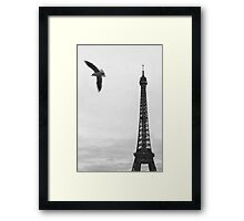 Freedom in Paris Framed Print