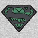 Superman Diamond Kryptonite Logo by paperboyjim
