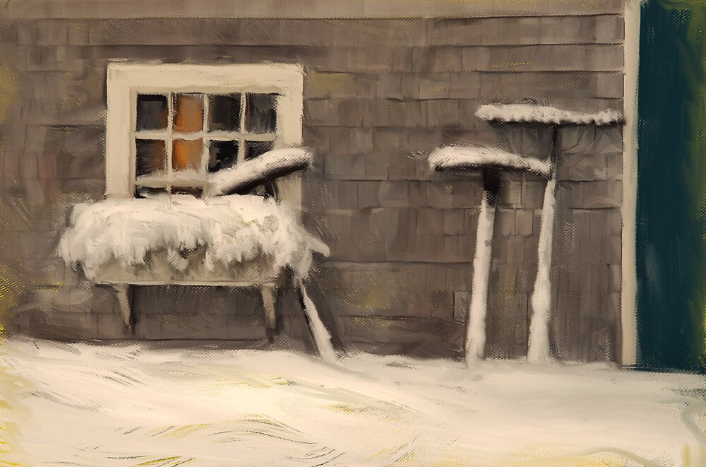 Three Rakes, Sheepscote Maine by Dave  Higgins