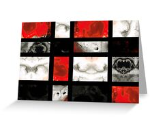 Modern Red And Black Blocks - Abstract Painting Greeting Card