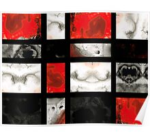 Modern Red And Black Blocks - Abstract Painting Poster